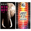 ◆(あす楽発送 ポスト投函!)(送料無料)(避妊用コンドーム)XLサイズスキンセット オカモト メガビッグボーイ(MEGA BIG BOY) + 不二ラテックス ジャストフィット(JUST FIT) X-Large size - ジャストフィットが気持ちいい (ネコポス)【smtb-s】