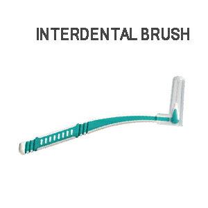 (ホテルアメニティ)(歯間ブラシ)(個包装)業務用 L字歯間ブラシ (INTERDENTAL BRUSH) - オーラルケアには欠かせない歯間ブラシ。L字型で使いやすく、歯の間の歯垢を掻き出します。