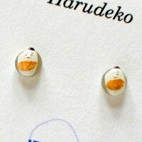 【送料無料】【Harudeko】お米のピアス本物のお米に絵を描いてピアスにしました。【クリックポストにて発送】