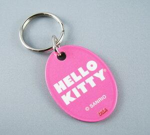ハローキティHelloKittyUSAサンリオオフィシャル品キーホルダー新品ピンク色