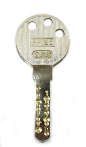 WESTトステム小判型交換シリンダー合鍵