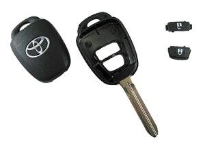 トヨタ純正新型現行カローラヴィッツアクシオアクア等2ボタンリモコン用ブランクキー
