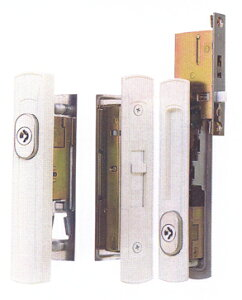 MIWA(不二サッシ)引き違い戸錠2点セットKH-212(白色)