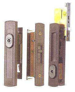 MIWA(不二サッシ)引き違い戸錠2点セットKH-214ブロンズ色