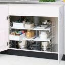 調味料や缶詰、ボウルやお鍋などをスッキリ収納!シンク下マルチ伸縮棚 UMD-2V キッチン用品、収納、小...