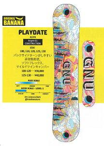 GNU [ PLAYDATE 100~120cm  @38880] グヌー ガールズ スノーボード 【正規代理店商品】【送料無料】