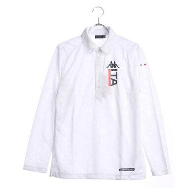 カッパ Kappa メンズ ゴルフ 長袖シャツ(幾何柄ジャガード) KG752LS43