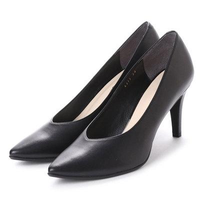 【アウトレット】アンタイトル シューズ UNTITLED shoes パンプス (ブラックスエード)