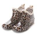 ケーズプラス K's PLUS レオパード(ヒョウ柄) ガーデニングブーツ ショートレインシューズ・kp_16029 (BROWN/Leopard)