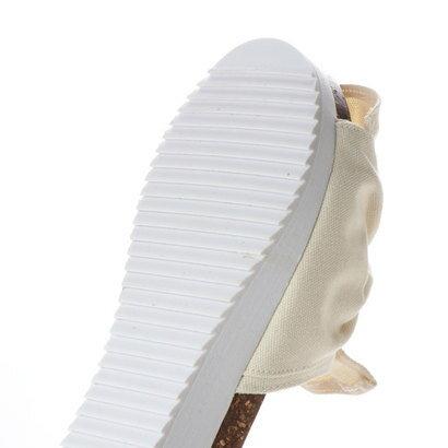 ココア cocoa 結びリボンコンフォートミュールサンダル (アイボリー)