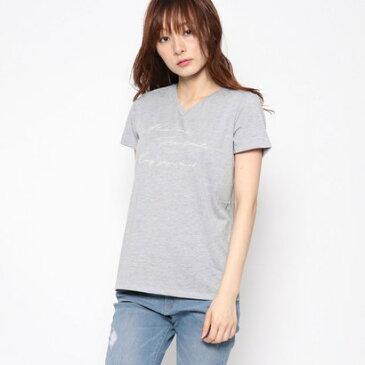 コムサイズム COMME CA ISM ロゴプリント Tシャツ (グレー)