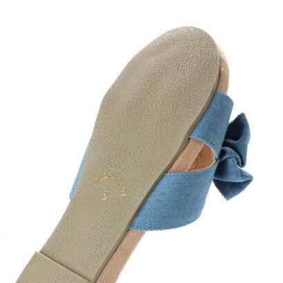 SFW リバティードール Liberty Doll 低反発のもっちりクッションで最高の履き心地☆簡単に履けて様々なスタイルに取り入れやすいリボンサンダル/5555 (ブルーデニム)