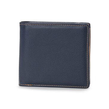 【アウトレット】アーバンリサーチ URBAN RESEARCH outlet 二つ折り財布 (ネイビー×ベージュ)