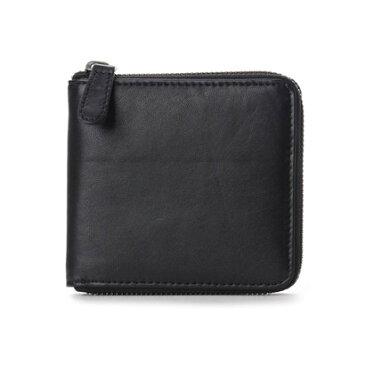 【アウトレット】アーバンリサーチ URBAN RESEARCH outlet ランドファスナー二つ折り財布 (ブラック)