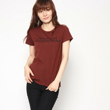 コムサイズム COMME CA ISM プリント Tシャツ (ブラウン)