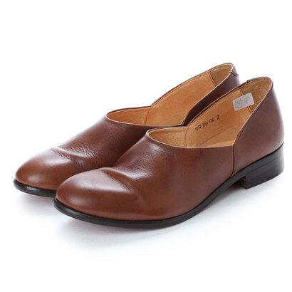 バレエシューズ, その他  DIGOUT CHET (Washed Side Slit Shoes) DARK BROWN