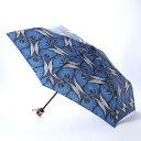 カンカン KANKAN アフリカンプリント折り畳み傘 (ブルー)
