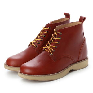 キタジマ 北嶋製靴 【5.5cmアップ】牛革ワークブーツ プレーン シークレットブーツ 軽量 幅広 本革日本製 No.1563 (ブラウン)