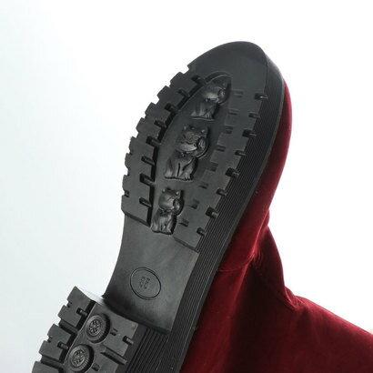 スタイルブロック STYLEBLOCK 裏ボアスエード調タッセル付ブーツ (レッド)