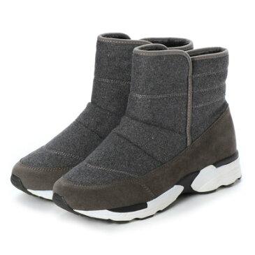 ジェミニ GeMini ムートンブーツ レディース ショート 黒 アンクルブーツ ブーツ ショートブーツ ムートン 8301 (Gray)