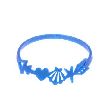 【kahiko】静電気除去効果 ノンパチシェルブレスレット ブルー