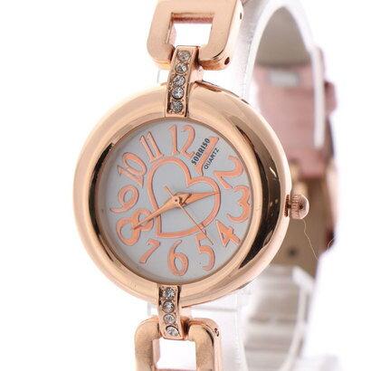 スマイルプロジェクト SMILE PROJECT SORRISO ソリッソ 愛されハートが文字盤に煌めく細ベルトが大人可愛い腕時計 SRF2-PNK(PNK)