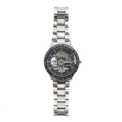スマイルプロジェクト SMILE PROJECT 自動巻き腕時計 スケルトンデザイン シンプル 機械式腕時計 ATW012-BLK (BLK)