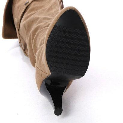 スタイルブロック STYLEBLOCK スタッズベルト付き2WAYロングブーツ (キャメル)