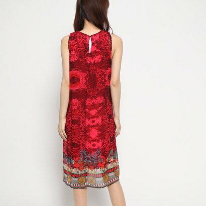 デシグアル Desigual ドレス袖なし (ピンク/レッド)