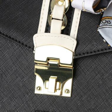 セシルマクビー CECIL McBEE アモ スカーフ付配色ミニショルダー (ブラック)