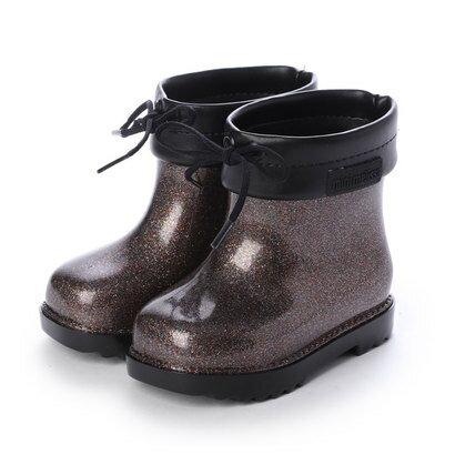 靴, レインシューズ・長靴  melissa MINI MELISSA RAIN BOOT BB BLACKGLASS MULTICOLOR GLITTER