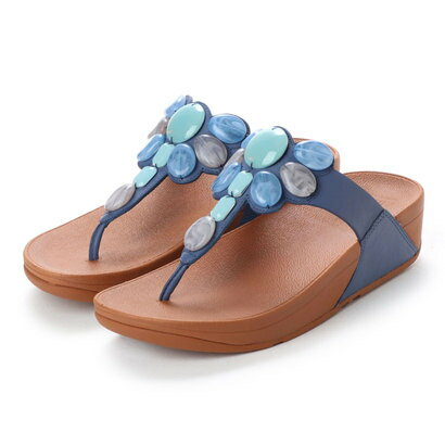 【アウトレット】フィットフロップ FitFlop HONEYBEE JEWELLED TOE-THONG SANDALS (Indian Blue)
