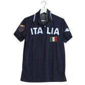 カッパ Kappa ゴルフシャツ 半袖シャツ(ITALIA胸ワッペン) KG612SS54 (ネイビー)