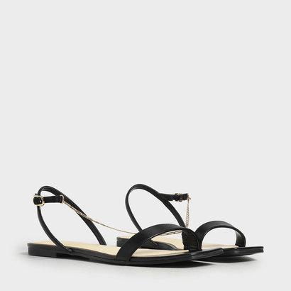 【2019 SUMMER 新作】チェーンストラップサンダル / Chain Strap Sandals (Black)
