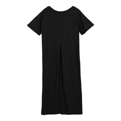 コウベレタス KOBE LETTUCE 前後2wayバックスリット半袖ロングTシャツ [C3883] (ブラック)
