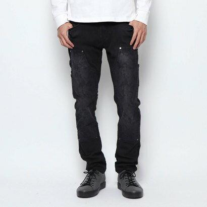 メンズファッション, ズボン・パンツ  GUESS SLIM TAPERED CARPENTER DARK WASH CAMOUFLAGE