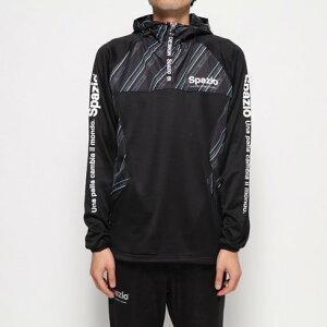 スパッツィオ SPAZIO メンズ サッカー/フットサル ピステシャツ 裏起毛ハーフジップピステパーカー GE0610