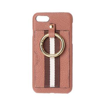 ペルケ perche ストライプテープやぎ革iPhoneケース(iPhone6・7・8用) (ピンク)