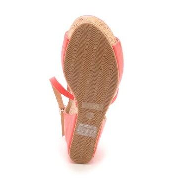 【アウトレット】ブリジットバーキン Bridget Birkin 単色スエード素材ウェッジサンダル(ピンクスウェード)