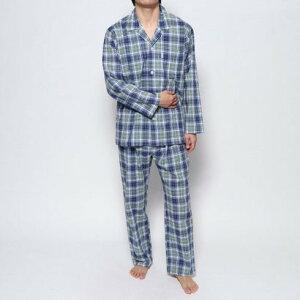 エンスウィート エンスウィート コンパクトブロードスラブチェックパジャマ (ブルー)