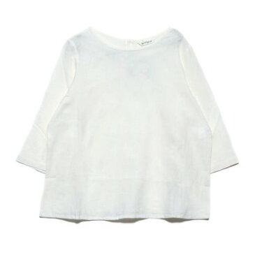 カンカン KANKAN 綿麻ビッグドットジャガードプルオーバー (ホワイト)