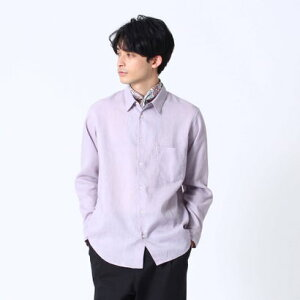 ティーケー タケオ キクチ tk.TAKEO KIKUCHI 【COMFORT BELGIAN LINEN】リネンシャツ (パープル)