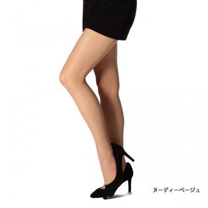 【福助】 マンゾク 満足 《着圧+細魅せ》 シャドウ編み サポート ストッキング (ヌーディベージュ)