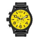 ニクソン NIXON 51-30 Chrono (All Black / Yellow)