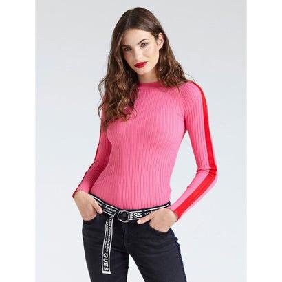 ニット・セーター, セーター  GUESS ZELDA SIDE BANDS SWEATER PEACEFUL PINK B401