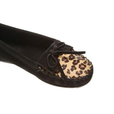 ミネトンカ MINNE TONKA Leopard kilty  moc(BLACK)