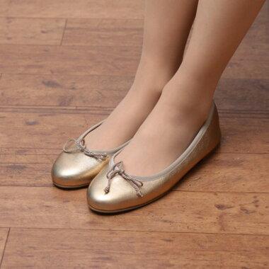 【アウトレット】プリティ・バレリーナ Pretty Ballerinas MARILYN metallic(マリリン メタリック)バレエシューズ(ゴールド)