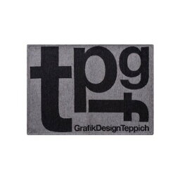 TIMELESS COMFORT TYPOGRAPHY [tpgf] RUG 50×70 マット (グレー)