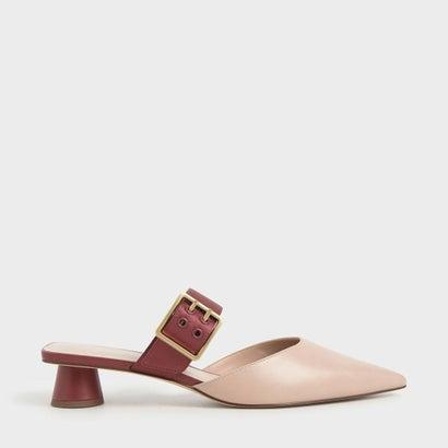 レディース靴, ミュール  Satin Grommet Buckle Mules Brick