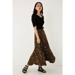 【アウトレット】Floral Flare Skirt BRN